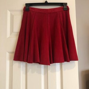 Design Lab Lord & Taylor Skirts - Red velour skirt